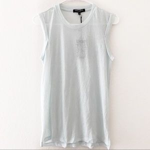 (NWT) David Lerner | Crew Neck Rolled Muscle Tee
